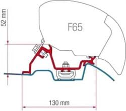 Afbeelding van KIT F80 - F65 MERCEDES SPRINTER NA 2006 ROOF RAIL