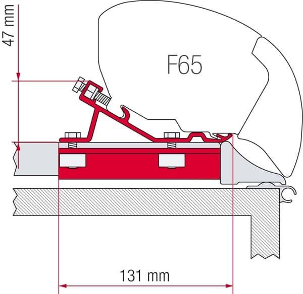 Afbeelding van KIT F80 - F65 FIXING BAR