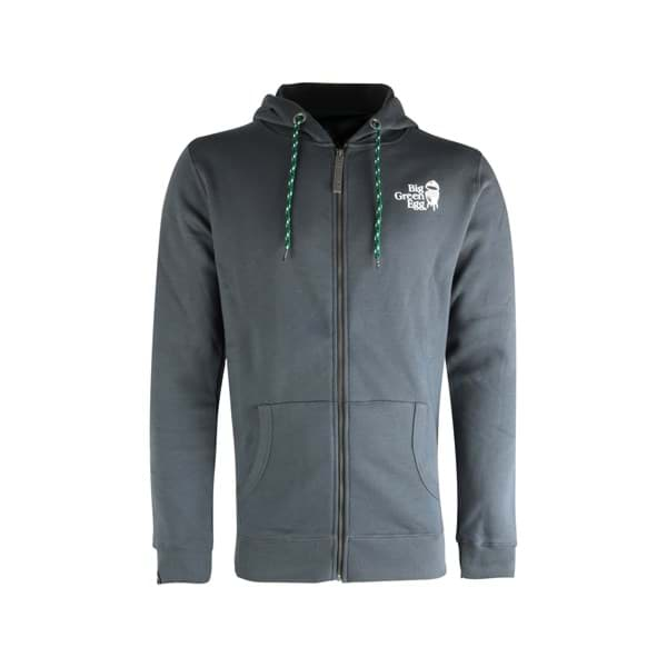 Afbeelding van BIG GREEN EGG HOODIE WITH ZIPPER - DARK GREY - XXLARGE