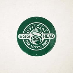 Afbeelding van ROUND GREEN SIGN - OFFICIAL EGGHEAD