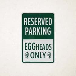 Afbeelding van EGGHEADS ONLY PARKING SIGN